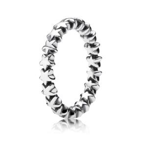 New Pandora sterling silver star stacking ring
